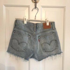 Levi's Wedgie High Rise Denim Shorts